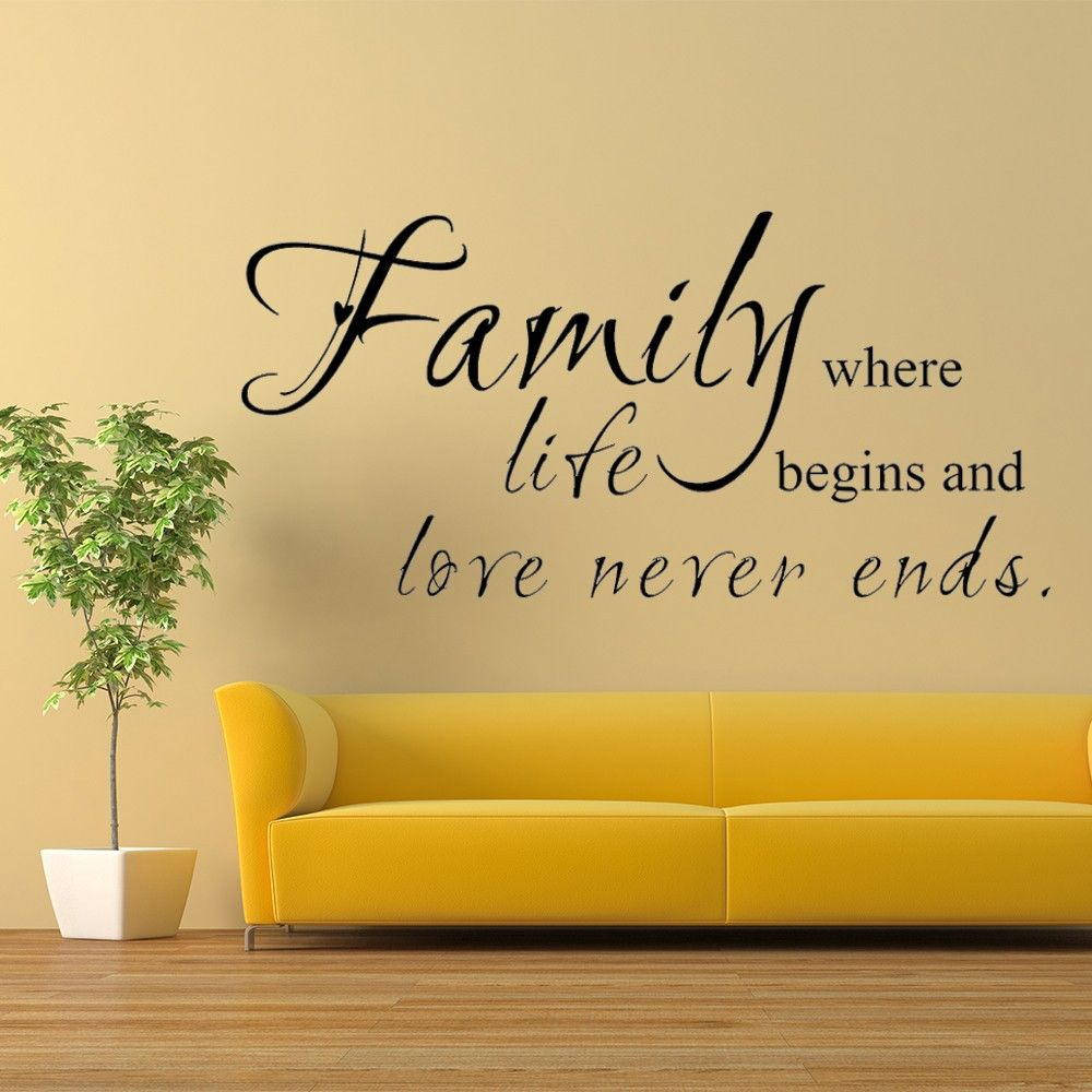 Attractive Family Script Wall Decor Gift - Wall Art Ideas - dochista ...
