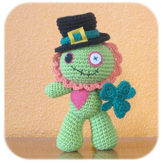 St. Patrick\'s Day Leprechaun Zombie crochet #StPatricksDay | Crochet ...