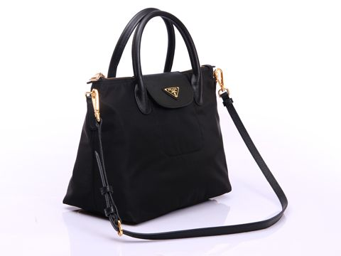 Prada BN2106 Tessuto Nylon With Saffiano Leather 2 Way Bag ... c35cd588642b1