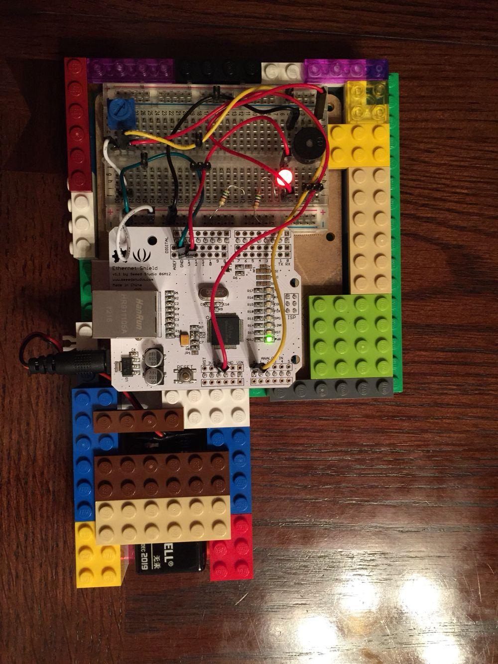 Arduino Metronome Lego Case Using Led Piezo And Potentiometer Mini Circuit The Bpm
