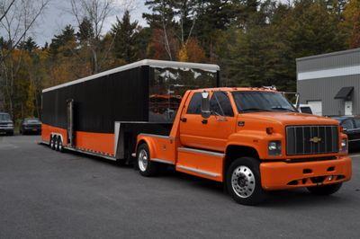 Chevy Kodiak 6500 Chevrolet C6500 And 3 Car Enclosedtrailer For
