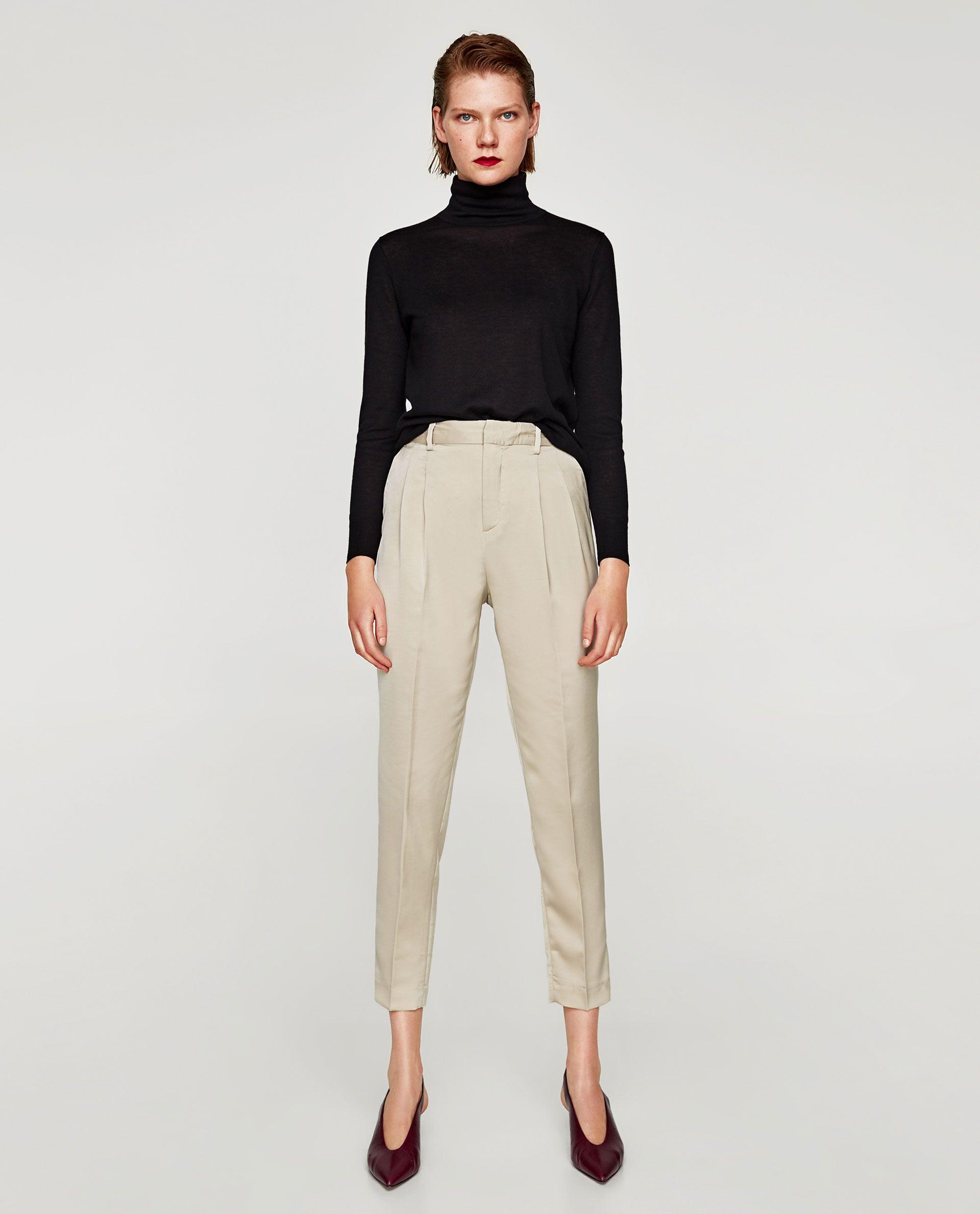 ZARA WOMAN HIGH WAIST TROUSERS | S | Pantalon tiro alto