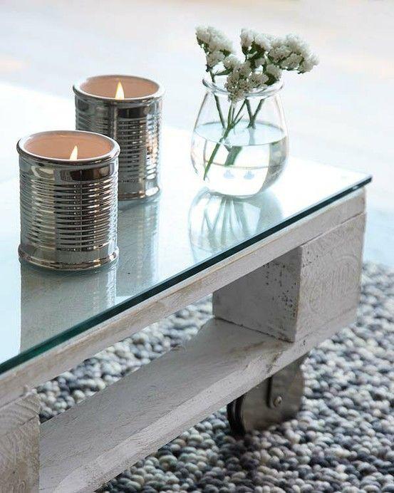 Table de salon en palette de bois DIY