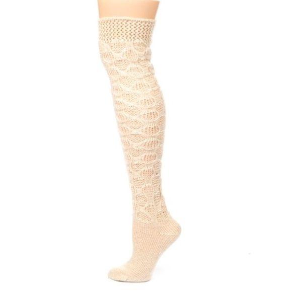 Lemon knee high socks One Size Grey and Brown