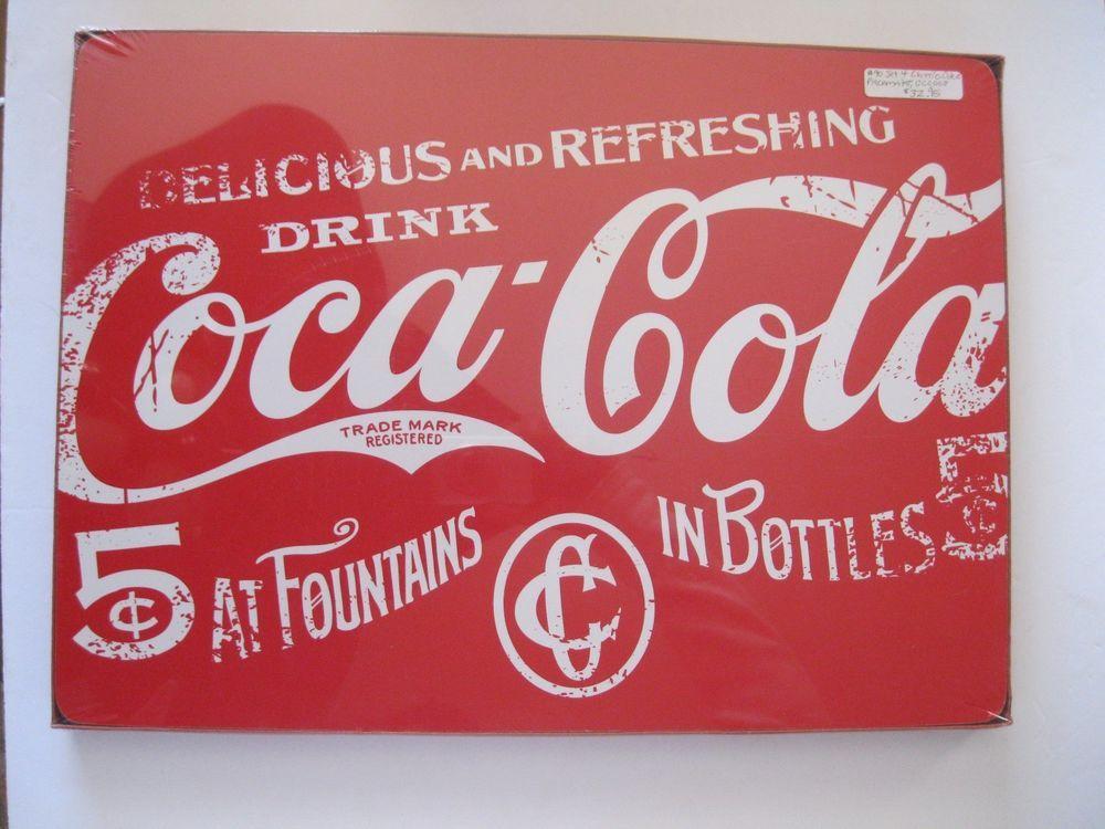Coca Cola Paper Placemats