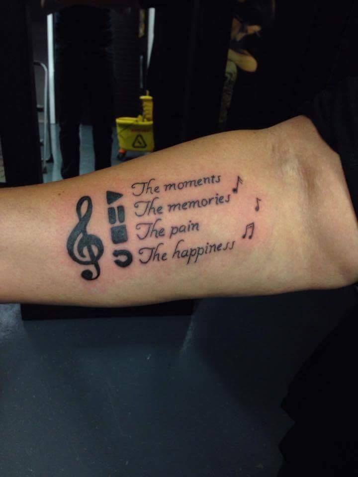 Musik männer tattoos motive 100 Musik
