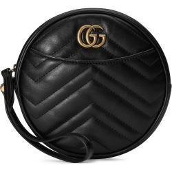 Photo of Ggmarmont Handgelenktasche aus Leder Gucci