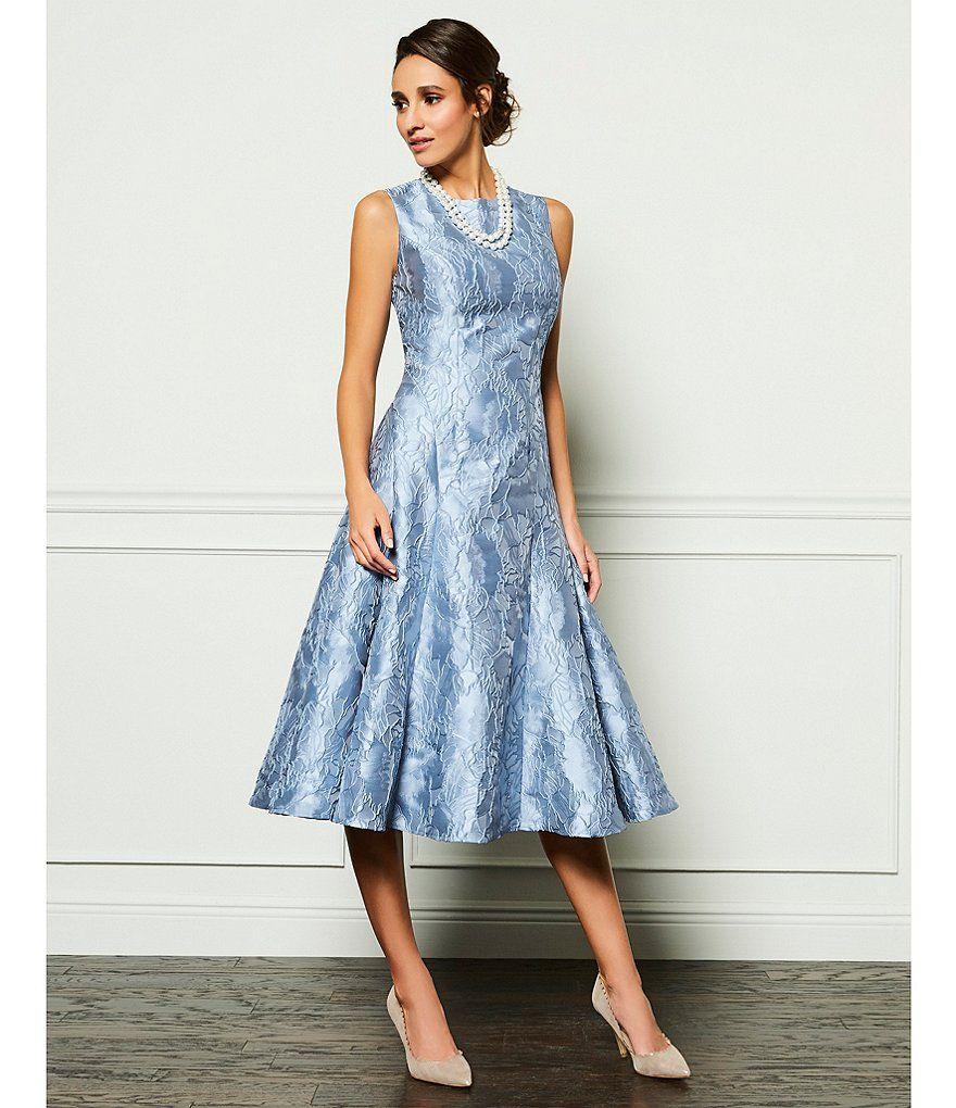 Carmen Marc Valvo Infusion Textural Midi Dress | Carmen marc valvo ...