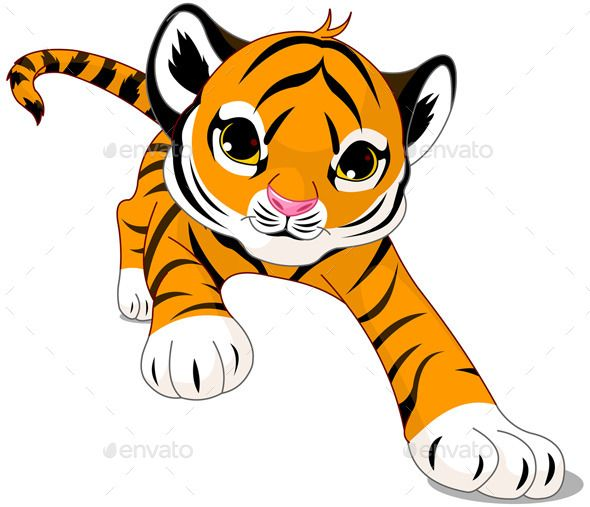 running baby tiger rh pinterest ph tiger cub clipart tiger cub clipart