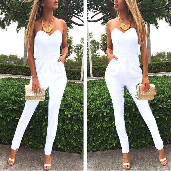 Women Elegant Long Overalls Jumpsuit