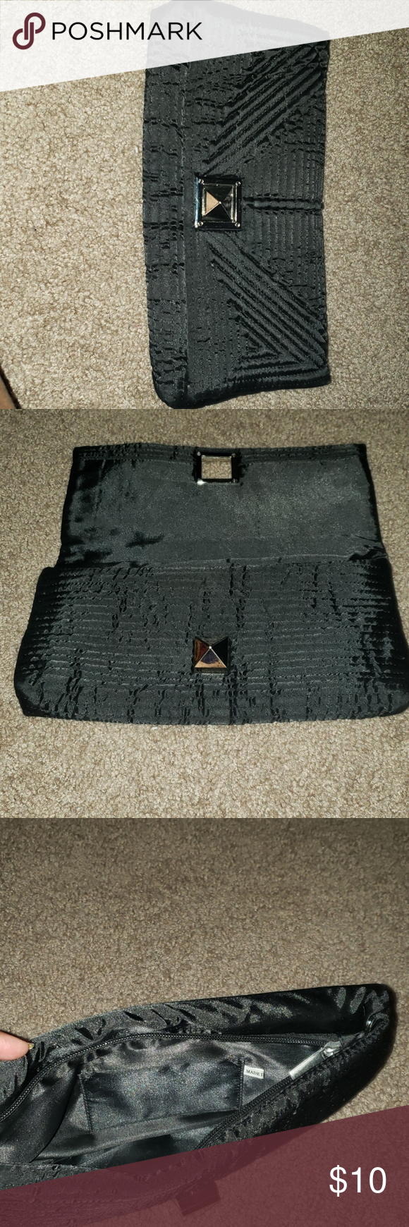 Photo of Black cloth purse Black cloth textures.  A great purse for out on the town tonho…