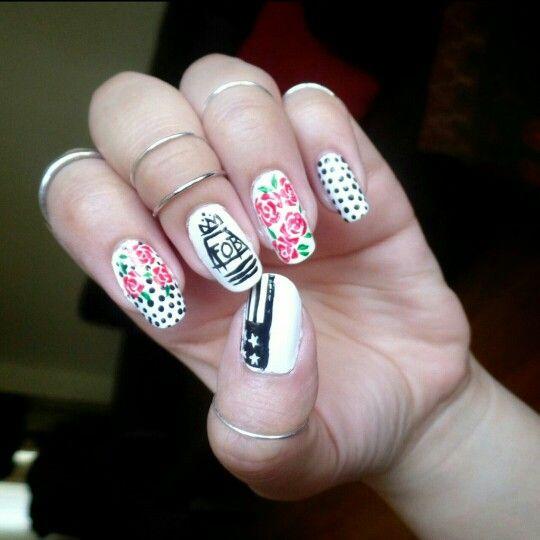 fall boy inspired nail art