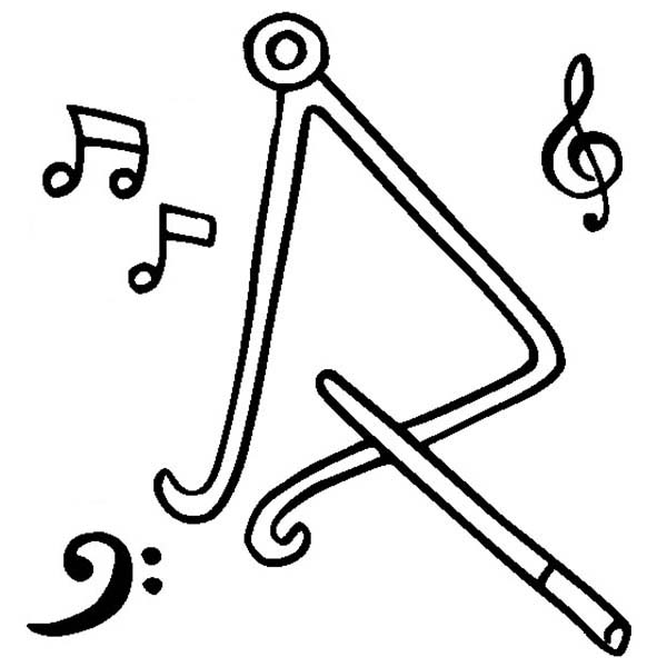 Triangle Is A Musical Instruments Coloring Pages Bulk