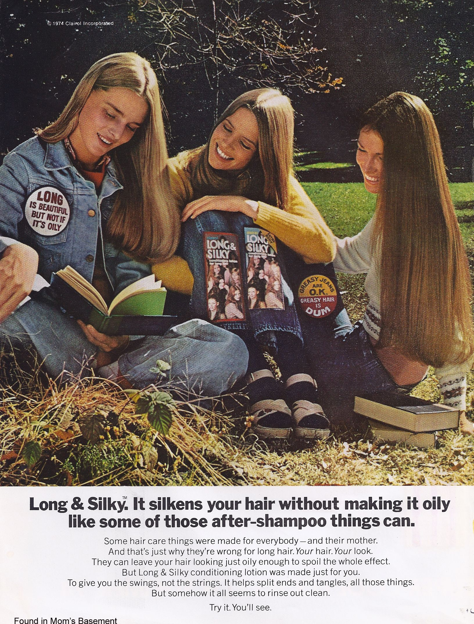 1974 ad long & silky hair conditioner