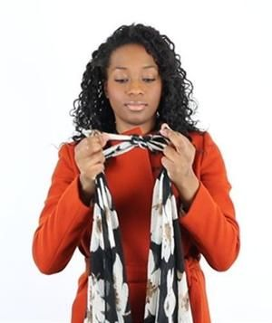 4 fun ways to tie a scarf real simple tossed and editor 4 fun ways to tie a scarf ccuart Image collections