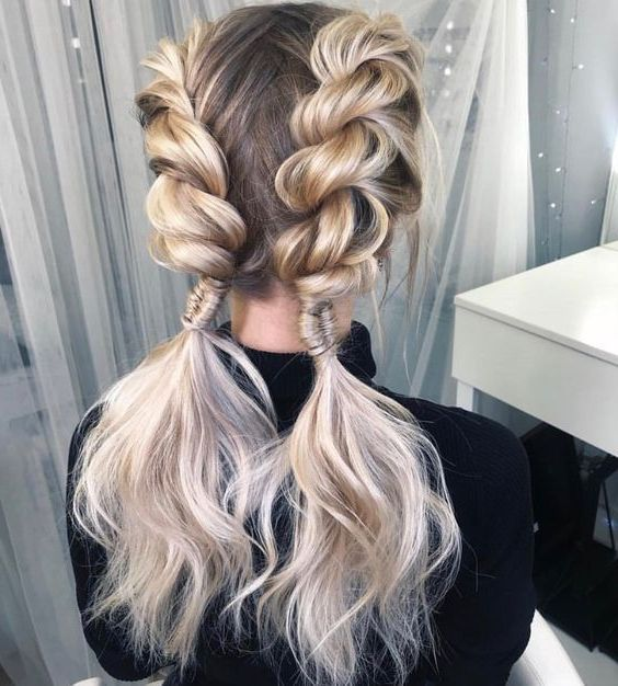 31 Best Trendy and Beautiful Twisted Rope Braid Blonde Hairstyle for Long Hair