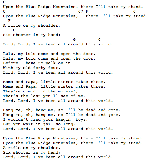 Ive Been All Around This World Chords Guitar Tab Grateful Dead