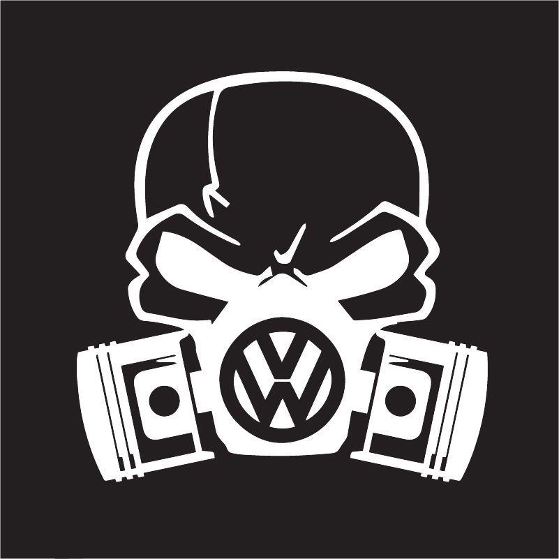 Custom Volkswagon Skull Mask For Golf Gti Vw Jetta Beetle Euro Car