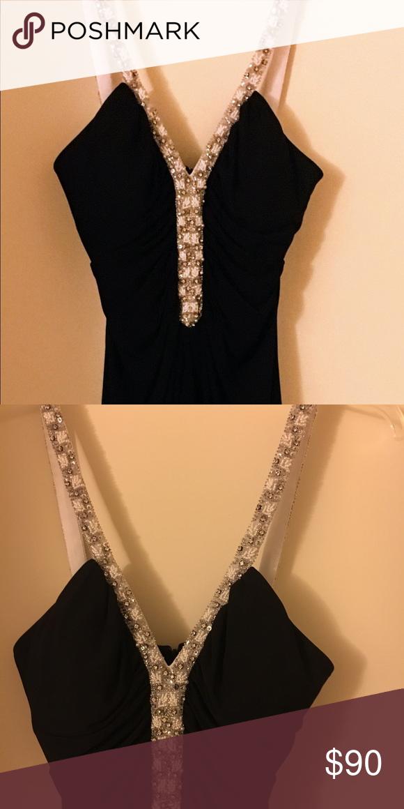 Black Dress With Rhinestone Straps My Posh Closet Pinterest