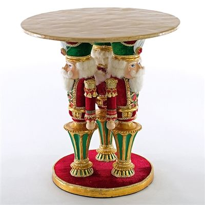 💕SHOP💕 www.crownjewel.design  KATHERINE'S COLLECTION CHRISTMAS WISHES NUTCRACKER CAKE STAND HOLIDAY DECOR