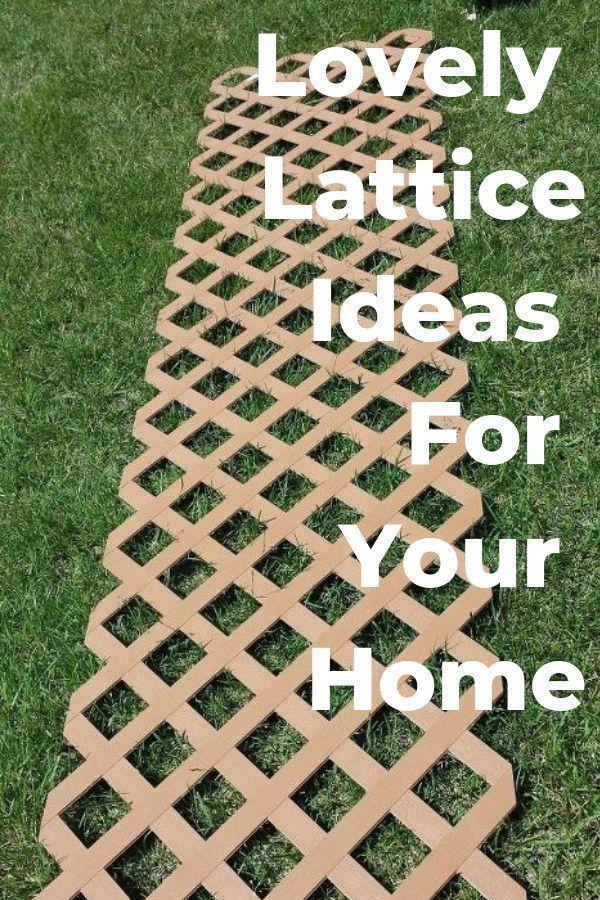 DIY Lattice Ideas For Your Home #zuhausediy