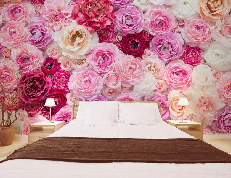 Papier Peint Floral Tapisserie Panoramique Rose Sticker Mural Xxl Romantique Atelier Wybo Papier Peint Papier Peint Photo Papier Peint Rose