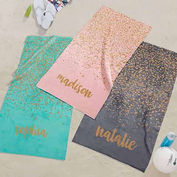Kids Birthday Beach Towel Bride To Be Towels Adult