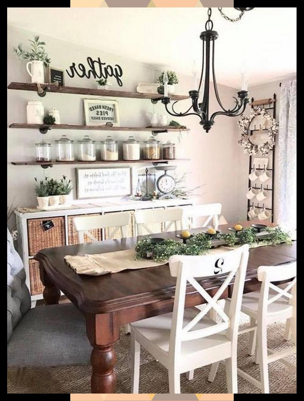 Popular Farmhouse Dining Room Design Ideas Trend 2019 in