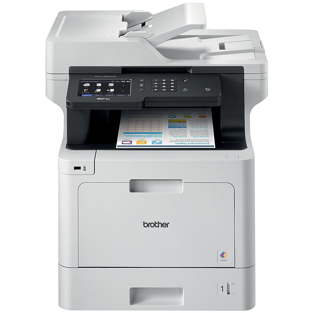 Brother Business Wireless Color Laser All In One Printer Scanner Copier Fax Mfc L8900cdw Item 447513 Wireless Networking Laser Printer