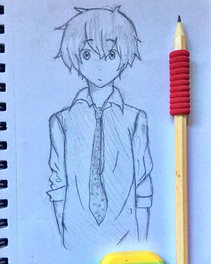 A Drawing Of An Anime Boy Drawing Anime Animedrawing Pencil Rubber Pencildrawing Art Drawinganime Ot Desenho De Anime Desenhos De Anime Desenho Avatar