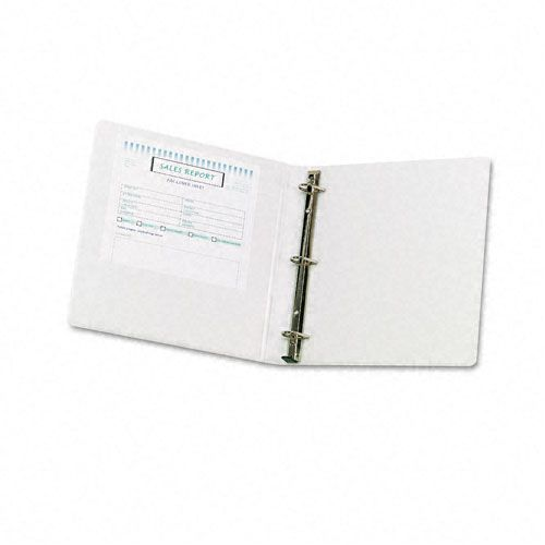 "Samsill DXL Soft Click Locking D-Ring 1"" White View Binder"