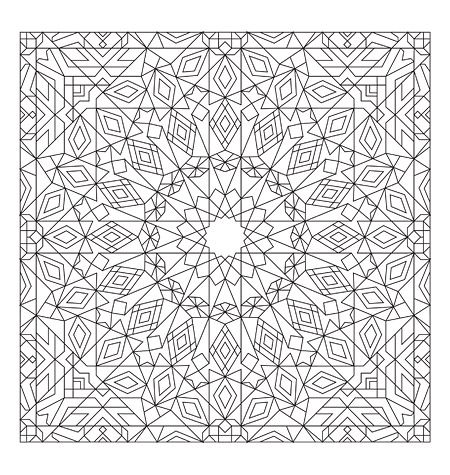 Stress Less Coloring Mosaic Patterns Geometric Coloring Pages Pattern Coloring Pages Mandala Coloring Pages