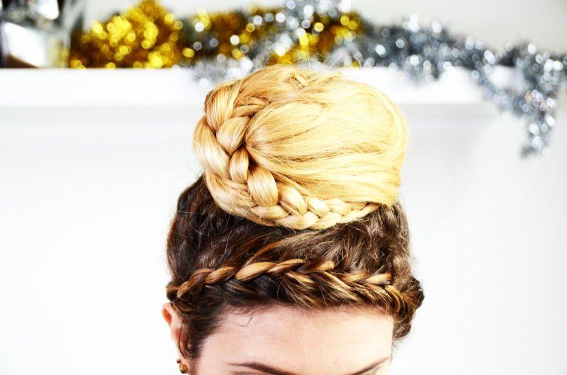 DIY last minute holiday hair