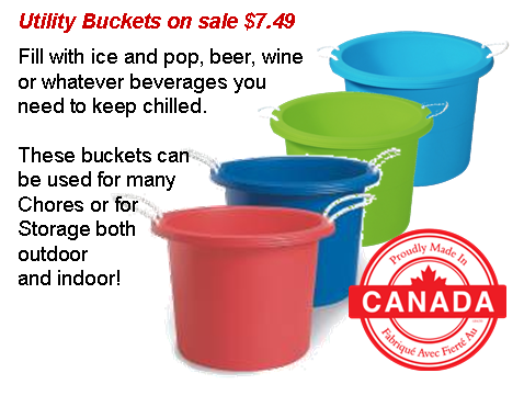 Utility Buckets On Sale Bucket Sale Event Canning