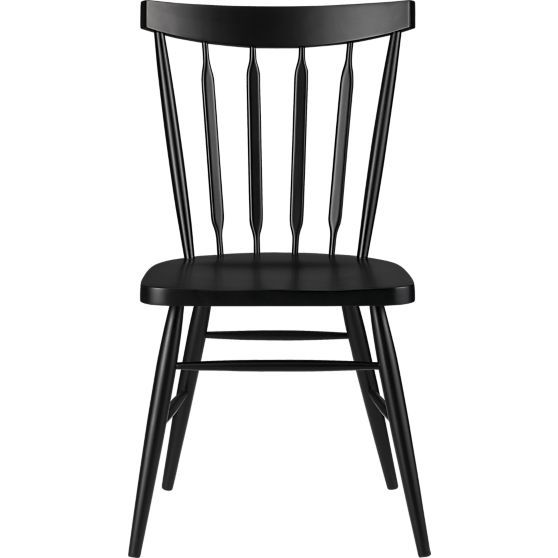 Willa Raven Side Chair In Dining Chairs Crate And Barrel