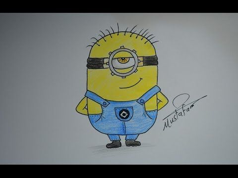 How To Drawing Minions For Kids Drawing For Kids Drawings Bart Simpson