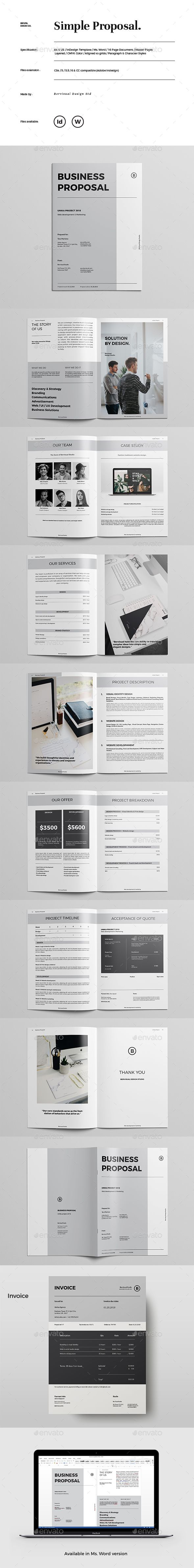Simple Proposal  Proposal Templates Proposals And Template