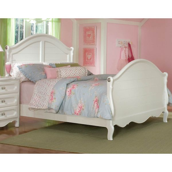 Adrian White Classic Full Sleigh Bed   Sleigh beds, Twin ...