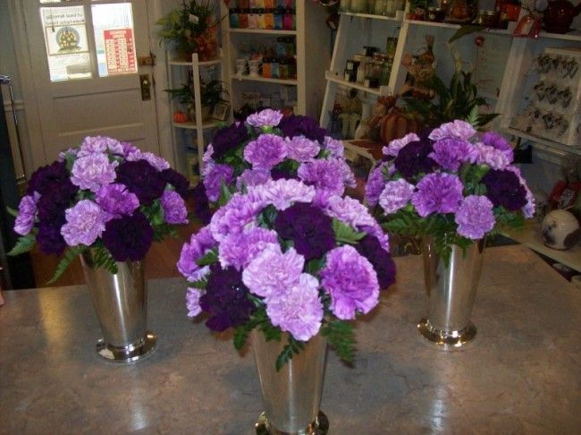 Purple Ideas For Weddings: Centerpieces For Wedding Receptions