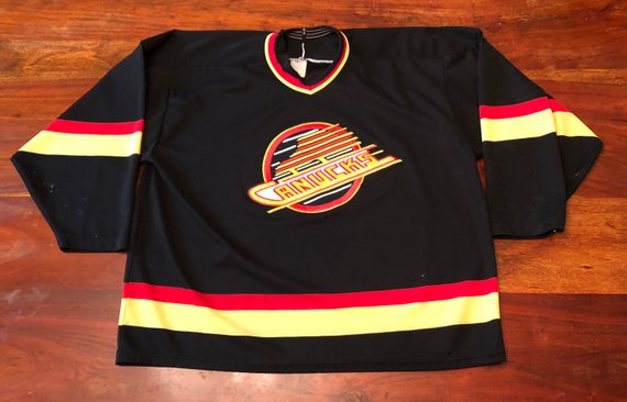 d67e6fd85 90s Vintage Vancouver Canucks NHL CCM Hockey Jersey - XL