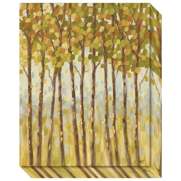 Tall Trees Canvas Wall Art ($140) ❤ liked on Polyvore featuring ...