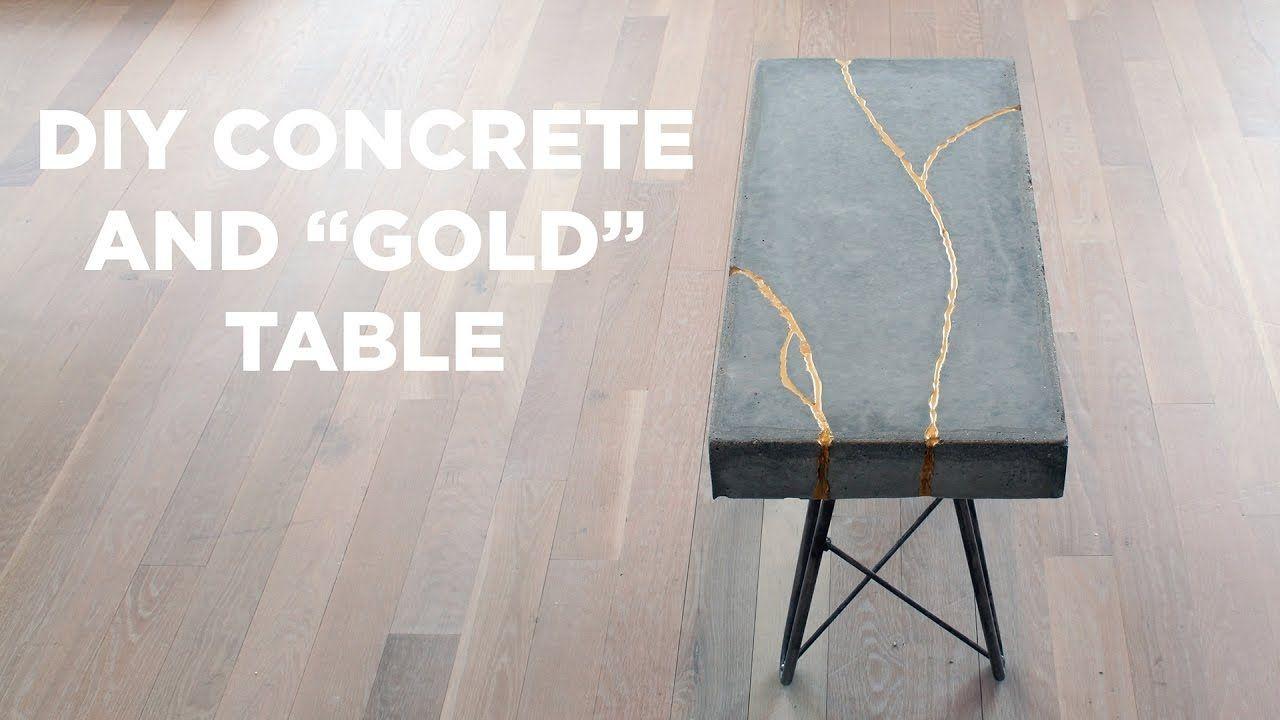Diy concrete and gold table kintsugi concrete diy diy