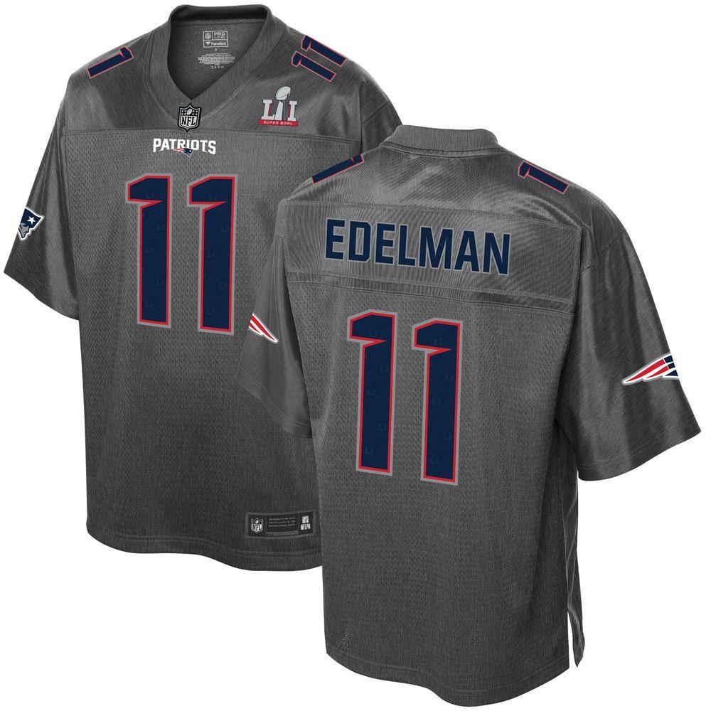 Men S New England Patriots Julian Edelman Pro Line Gray Super Bowl Li Champions Stronghold Fashi With Images New England Patriots Jersey Patriots New England Patriots Gear