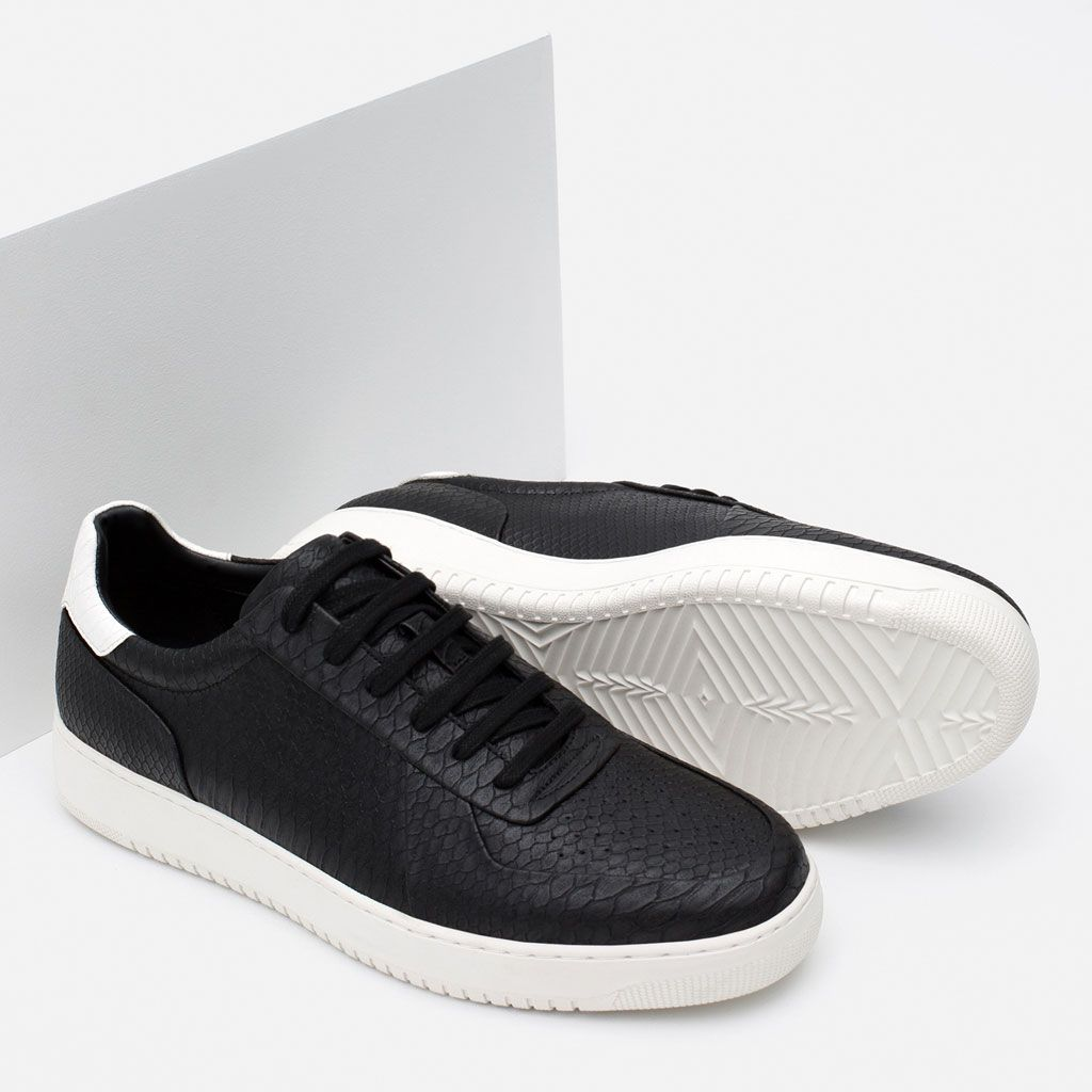 SNAKE PRINT SNEAKERS-Extended Sizes-Shoes-MAN | ZARA United States