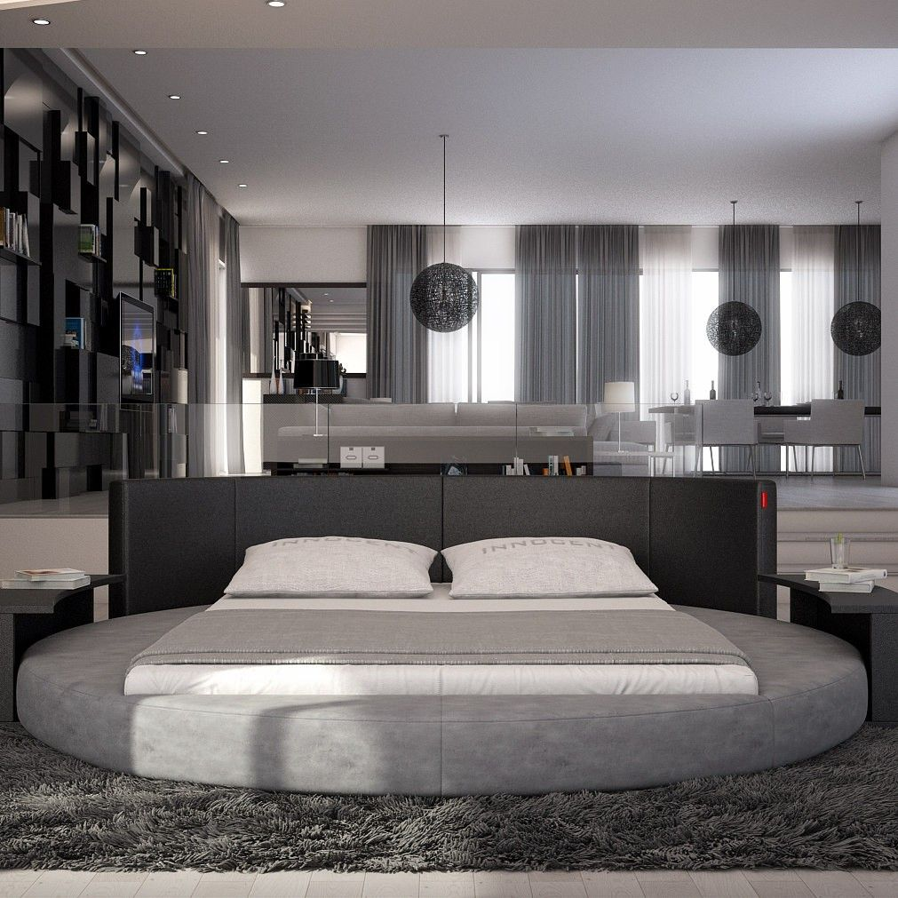 sfera modern queen round bed - Circle Beds Furniture