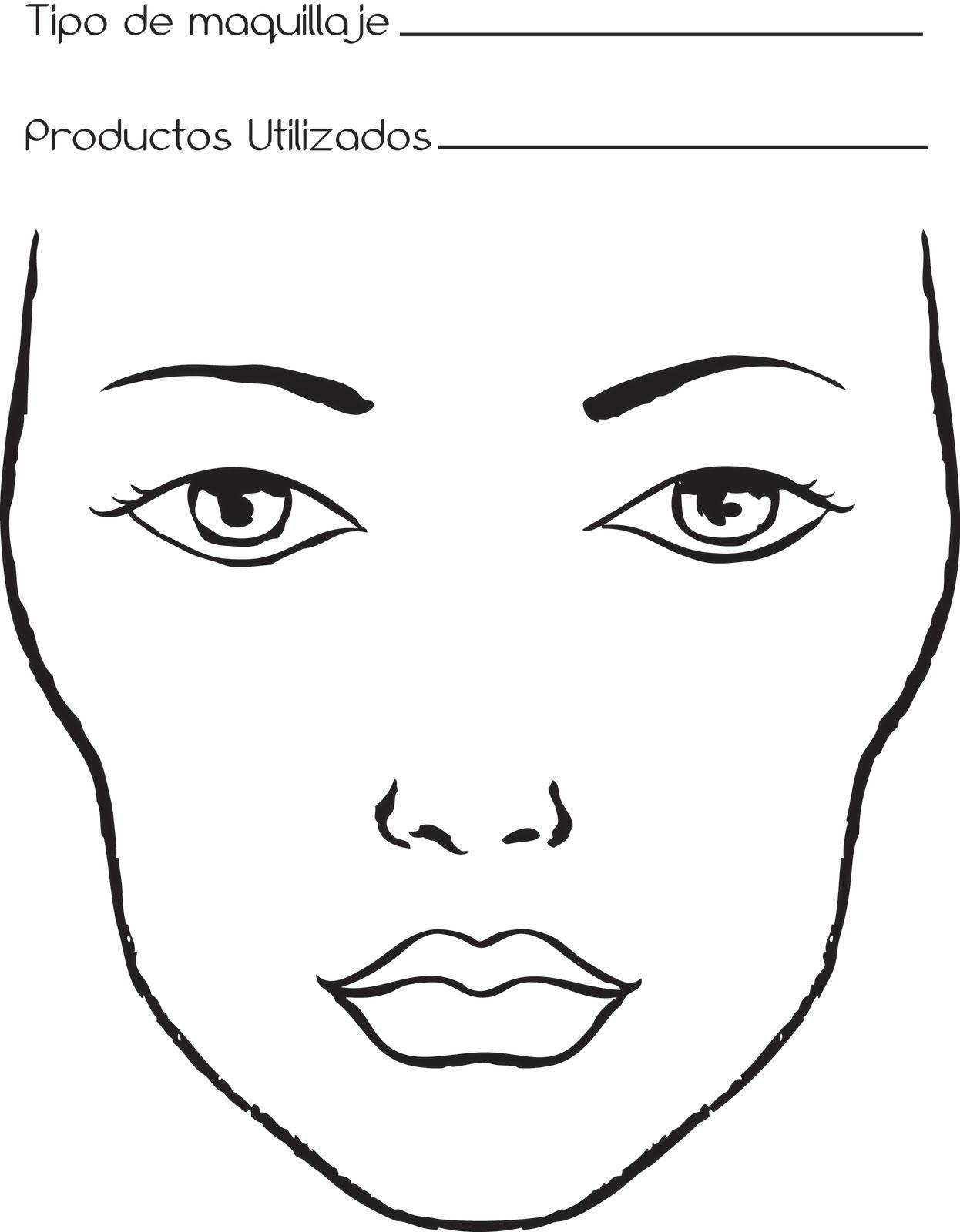 Dibujos De Caras Libros De Maquillaje Dibujos De Maquillaje Dibujos De Caras