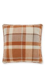 Love: Ginger Rustic Woven Check Cushion. TICK.