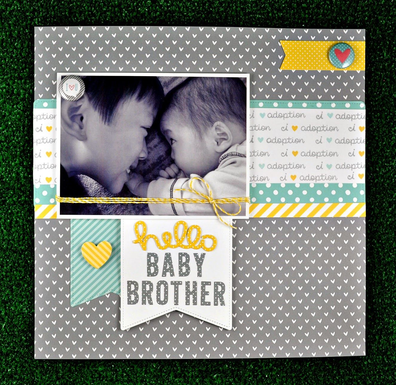 How to scrapbook 8x8 layouts - Our Friend Deb Made This Gorgeous Layout Using Let S Polka And Hello Baby I Just Love How She Used The Adoption Sentiment From