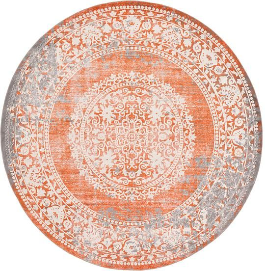 Terracotta 8 X 8 New Vintage Round Rug Area Rugs