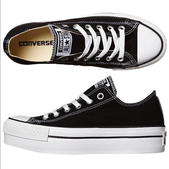 black and white converse platform